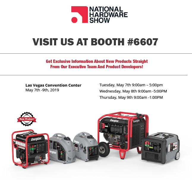 Energizer Generators @ The National Hardware Show